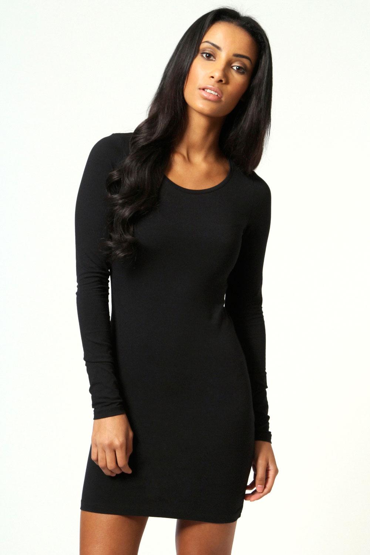 long sleeve bodycon dress dressed up girl