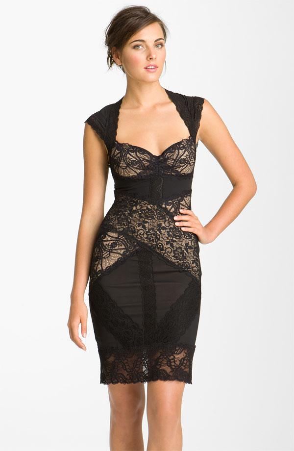 Black plus size sheath dress